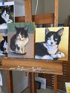 Levi portraits in progress