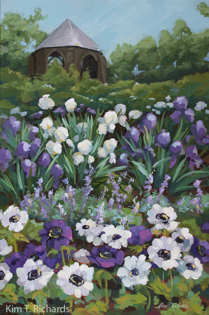 "The Bishop's Garden in Spring 20 x 30"" - acrylic"