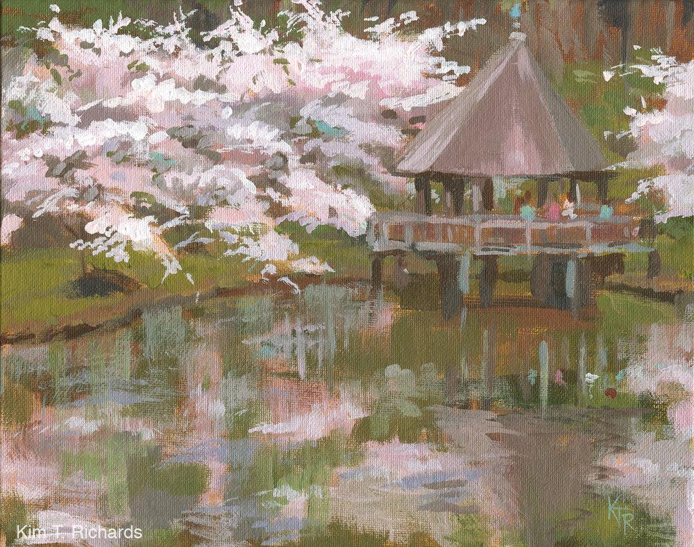 "Meadowlark Reflections  10 x 8"" acrylic on canvas panel"