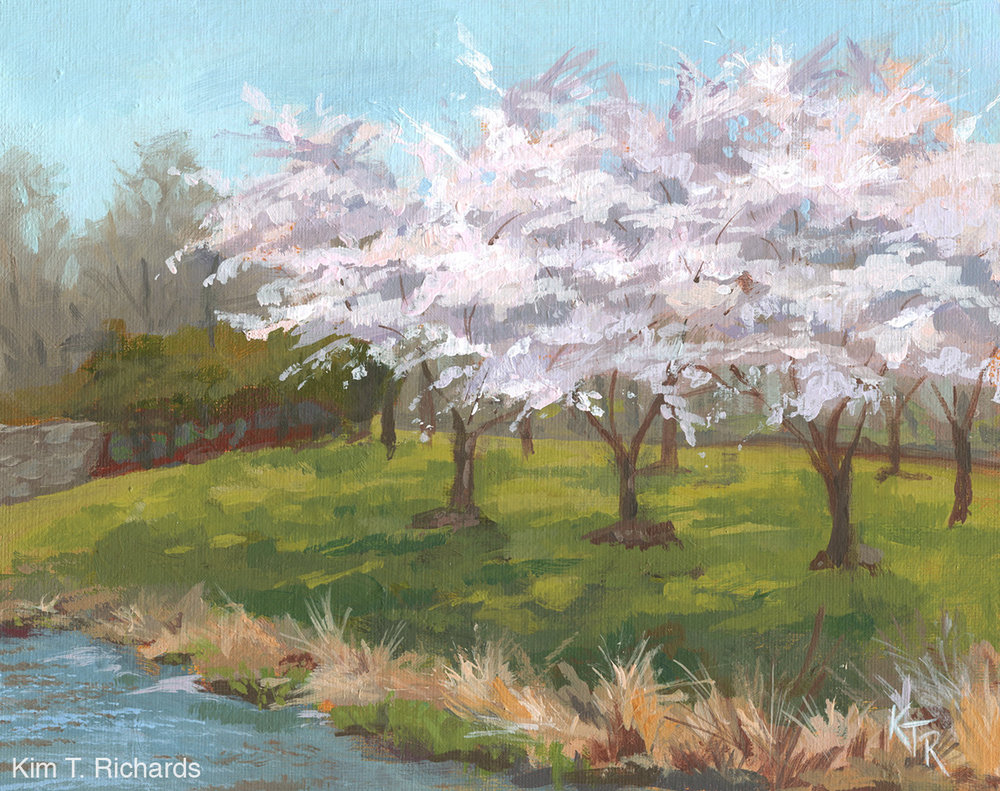 "Peak Bloom  10 x 8"" acrylic on canvas panel"