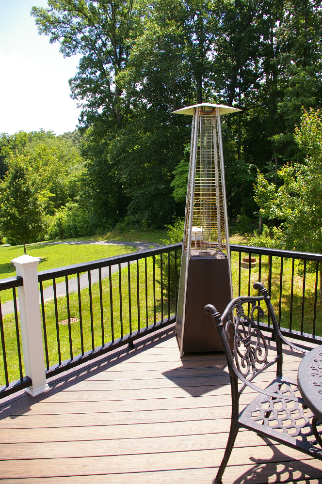 Deck with Decorative Iron Railing — DeckScapes