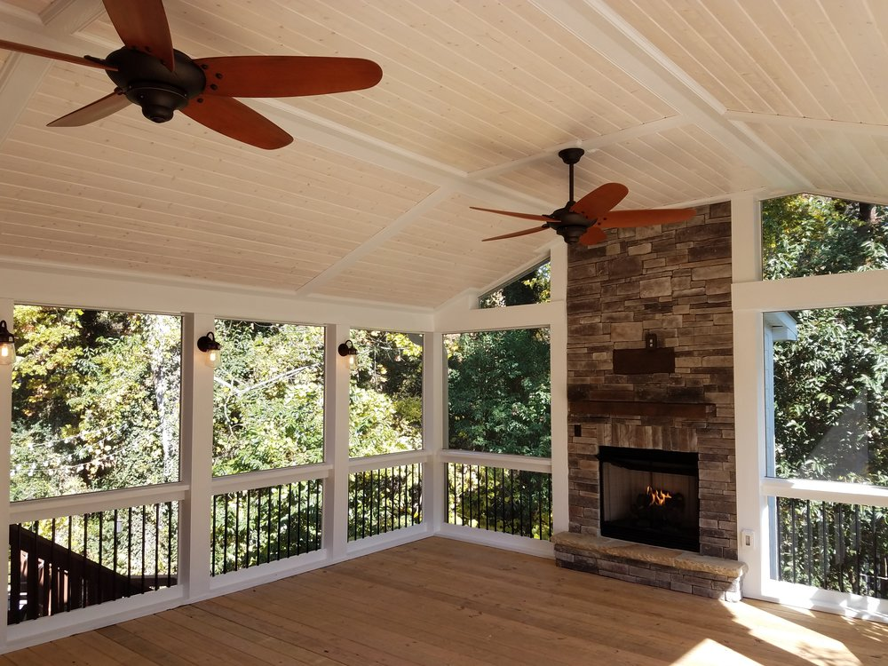 fireplace ideas and decor screened remodel in images with pictures porch
