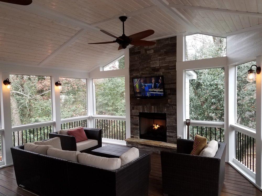 screen porch fireplace home decor renovation ideas rh pcjewishpulse com screen porch electric fireplace screen porch electric fireplace