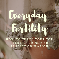 Everyday Fertility Course: Learn how to chart your menstrual cycles so you know when you're about to ovulate!