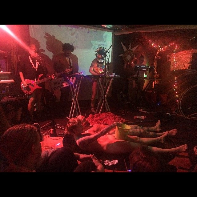 Bloodflames with Wild Torus (performance still), 2016