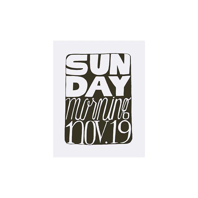 Sunday morning, November 19 // pen on paper // #lettering #typography #type #handdrawntype #handdrawntypography #sundayfunday #sunday #draw #drawing #illustration #illustrator #art #artist #fineart #instagood #sketchbook #typographer #handlettering #handdrawnlettering #handdrawnletters