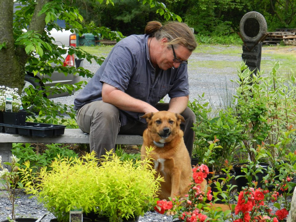 Dave and Beenie with plants for sale.jpg