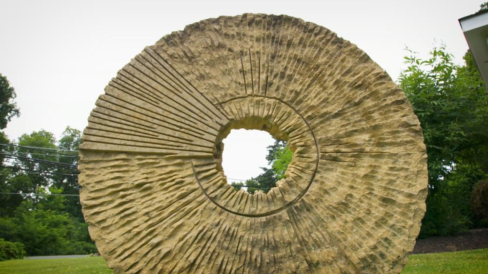 circles in limestone