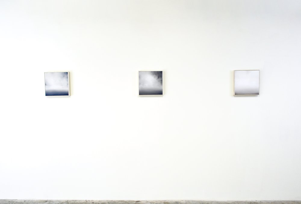 Installation View, The Sea XXVIII-XXX