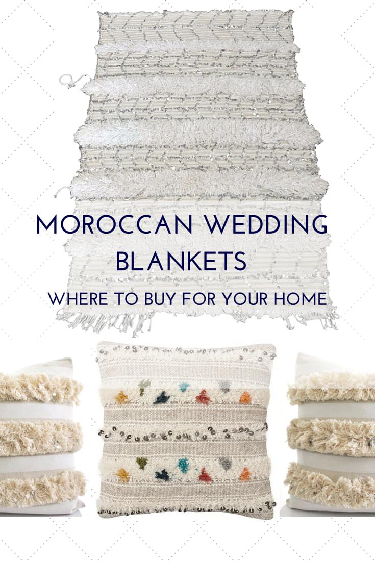 2nd Wedding Anniversary Gift - Moroccan Wedding Blanket — Sarice ...