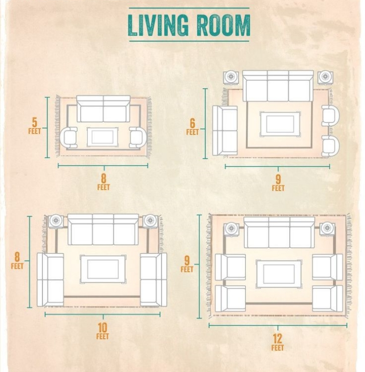3 tips for decorating small spaces sarice amiee interiors for Living room rug size