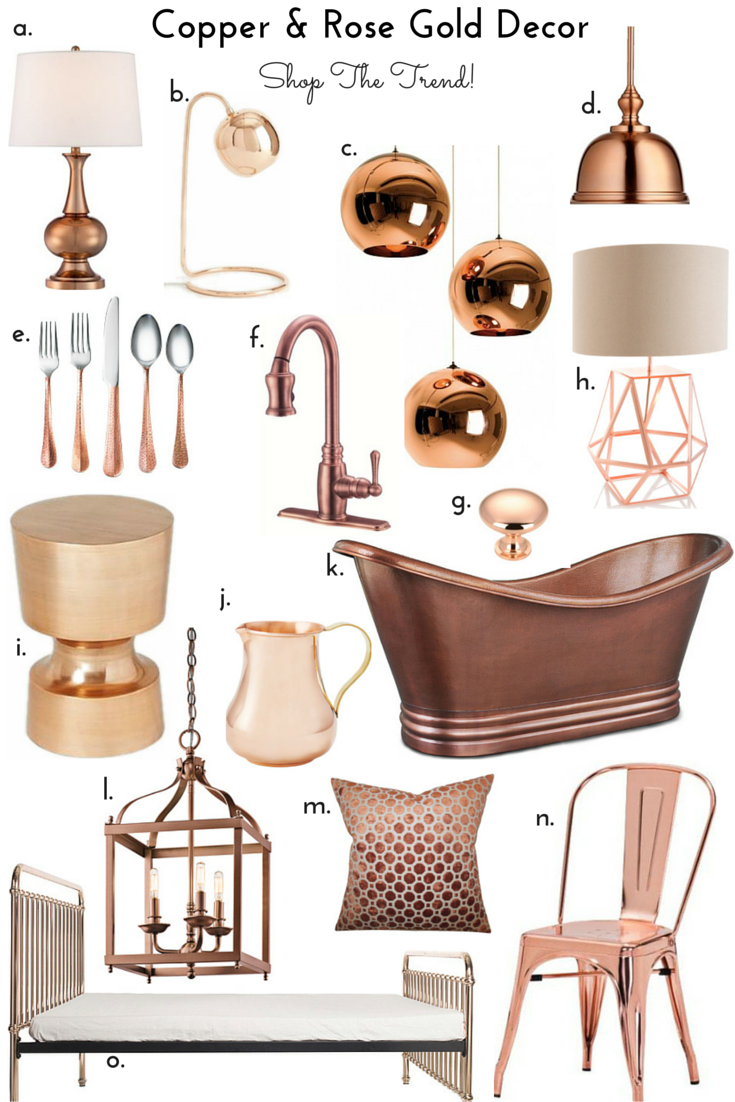 Copper and rose gold metal finishes shop the trend for Decoration murale rose gold