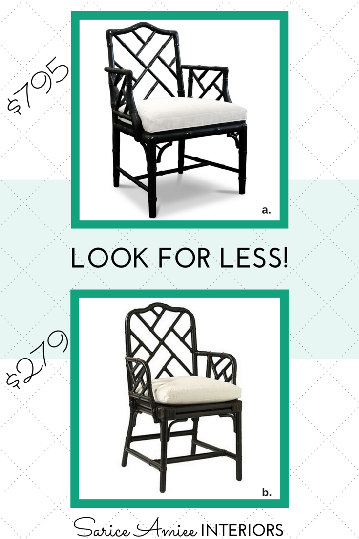 I Had Many Comments Regarding My Chinese Chippendale Chair And So Todayu0027s  Look For Less Will Reveal Splurge And Save Versions Of This Lovely Style  Chair.