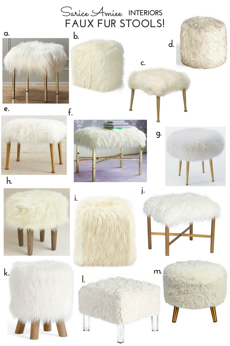 Faux Fur Stools A Love Story Sarice Amiee Interiors