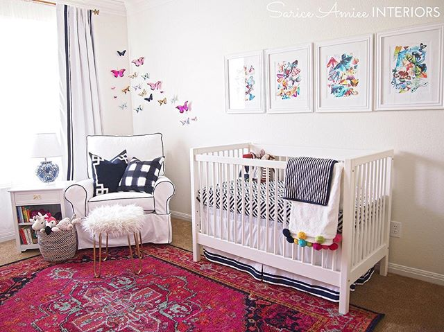 It is #nursery reveal day!! Baby girl's girly #chinoiserienursery turned out exactly how I imagined 😍. Check out the full reveal on the blog! Now all we have to do is wait for baby's arrival!! [Tap for sources]  #edesign #girlnursery #jossandmain #rugsusa #luluandgeorgia #landgathome #myhdcstyle #chinoiserie #homegoods #homegoodshappy #makehomeyours #colorshare #projectnursery #blueandwhite #blueandwhiteforever #nurserydecor #etsy #landofnod #thelandofnod #potterybarnkids #pbteen #ballarddesigns #shareyourcwt #caitlinwilsontextiles