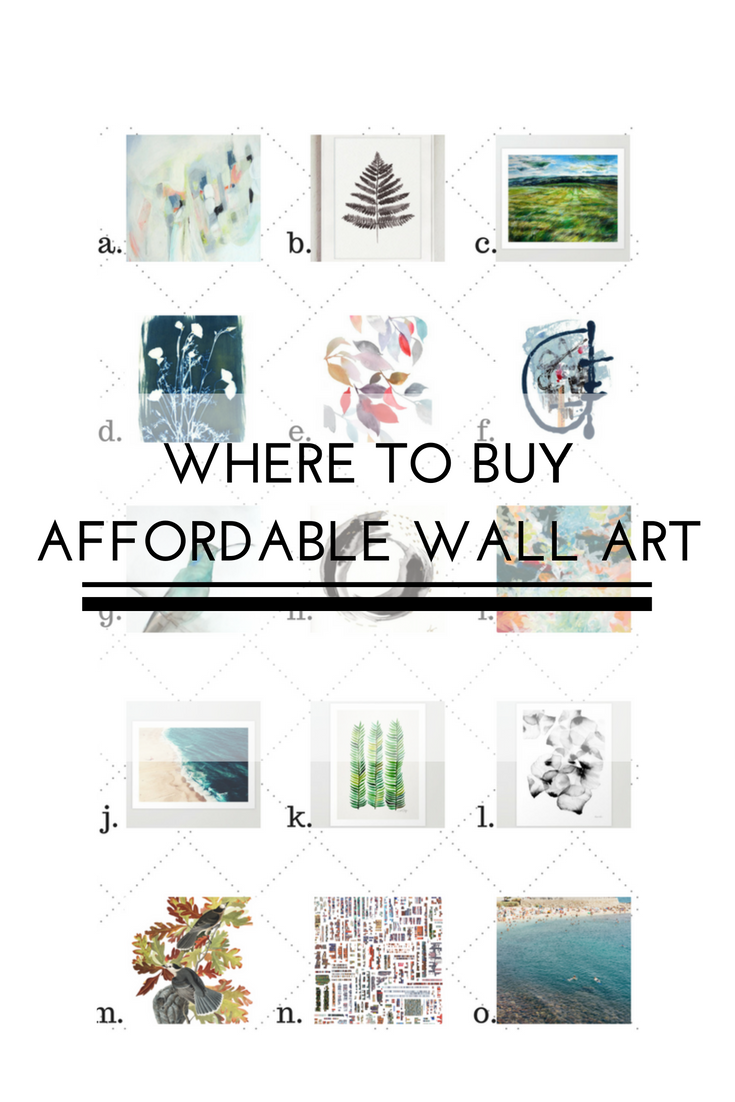 Today im going to share some of my favorite places to buy affordable wall art