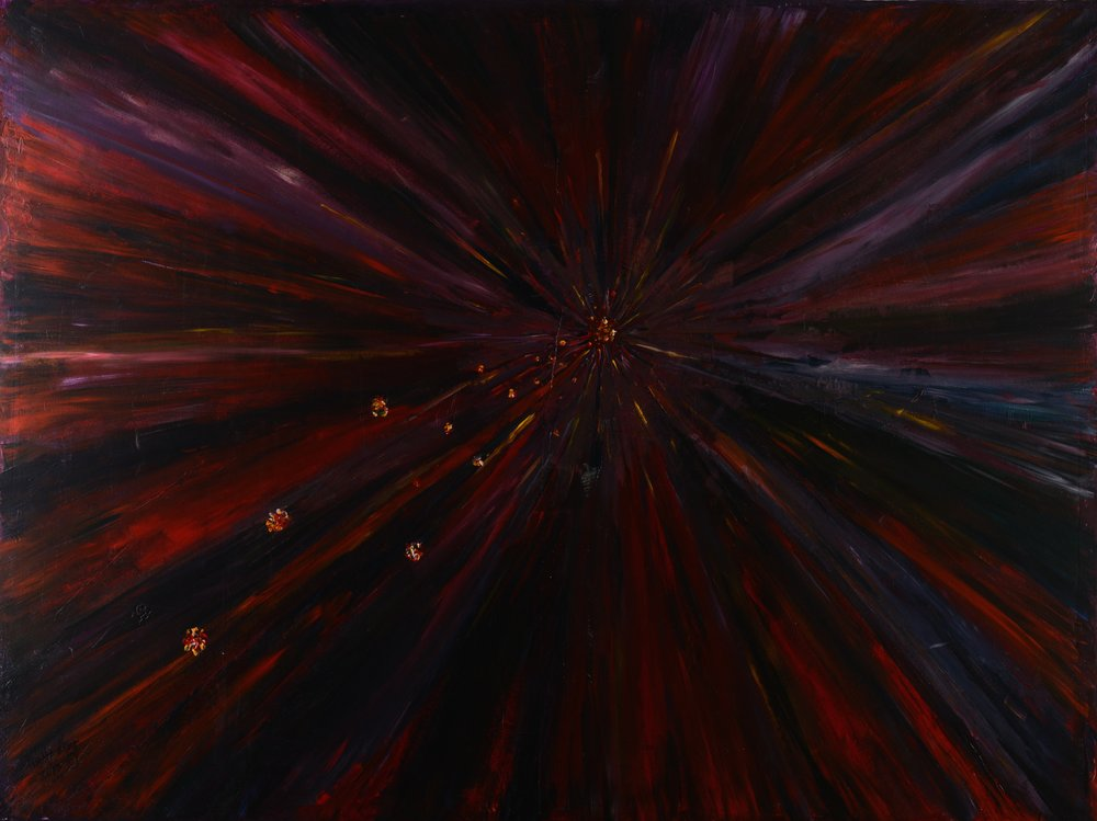 Prayer of Anger, acrylic on paper, painted in Doha, Qatar in 2012