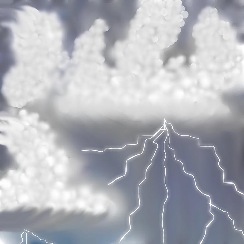 Thunder Summerstorm by Annette Hadley, digital design, 2016