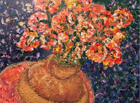 Flowers for Mary, 18x24 Acrylic on canvas