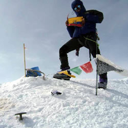 Successful Climber on the Summit of Denali