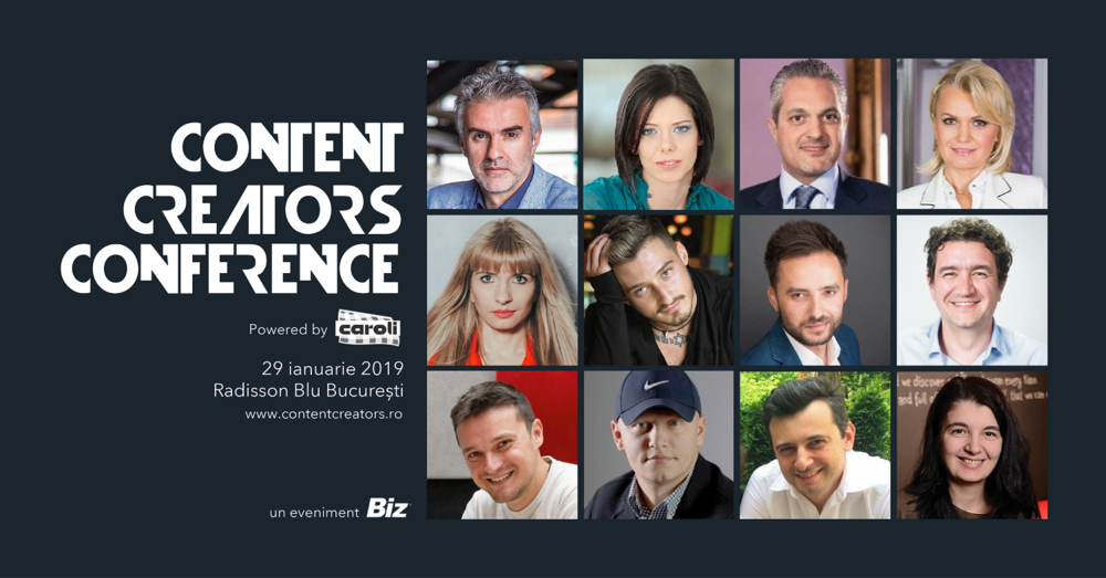 Sursă: comunicatul oficial Content Creators Conference