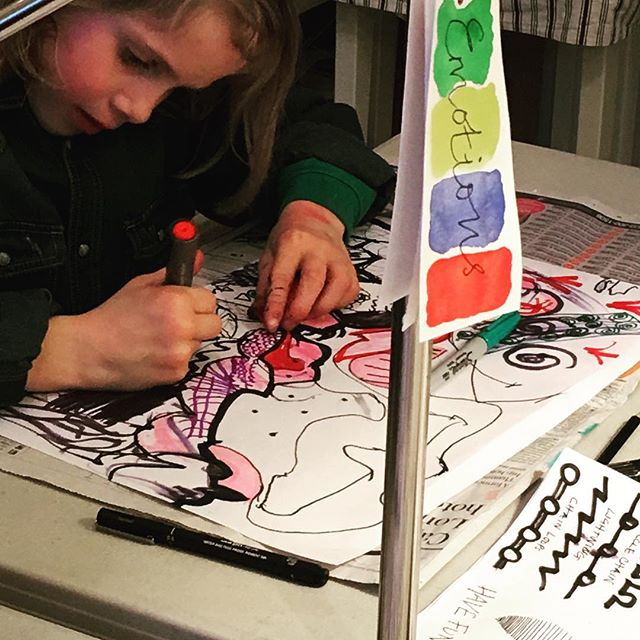 Learning key element of Art. LINES #rigbydesignhouse #harrogate #kids #afterschool #fun #activities #art#mixedmedia #linework