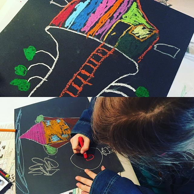 Illustrating poetry. A challenge but fabulous results!👍🏻#kids #illustration #poetry #mixedmedia #afterschool #harrogate #rigbydesignhouse #fun