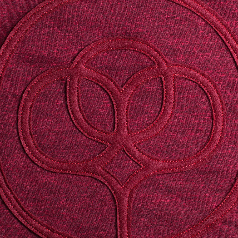 1-color felt appliqué