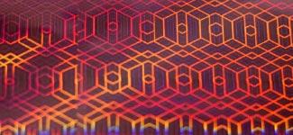 hexagons - pink (P0KP38)