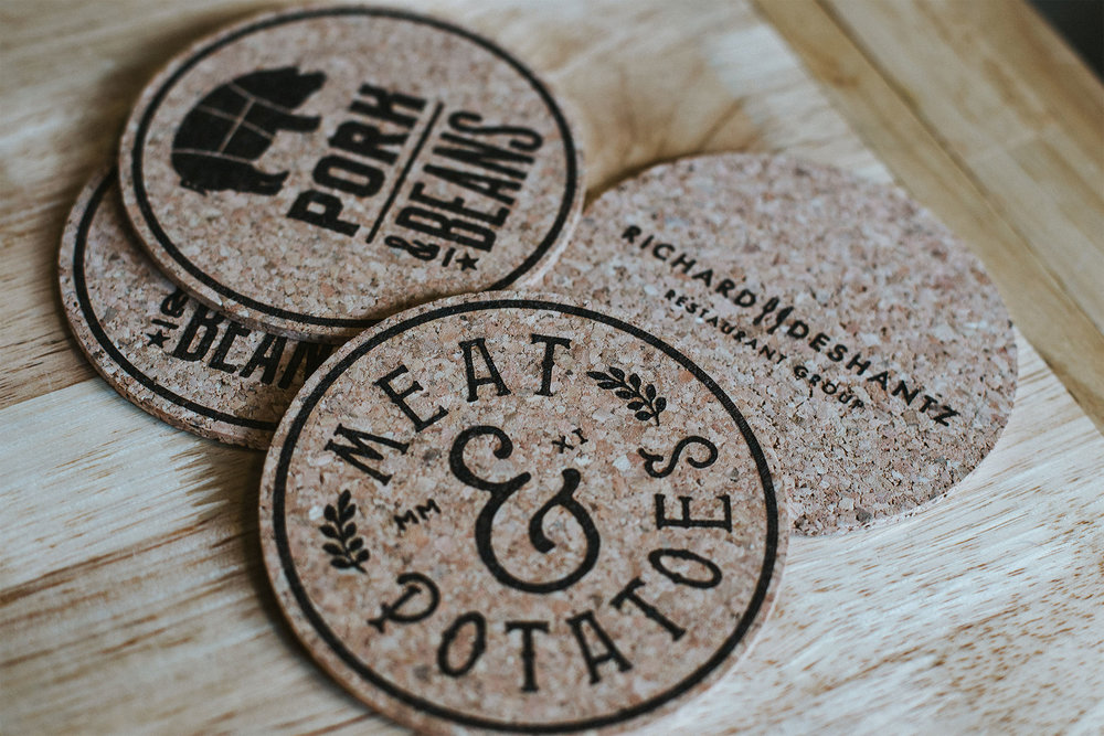 laser-etched coasters