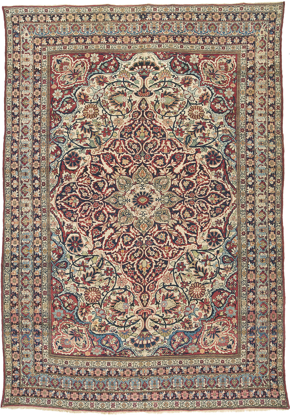 "Lavar Kirman Carpet 12' 9"" x 8' 11"""