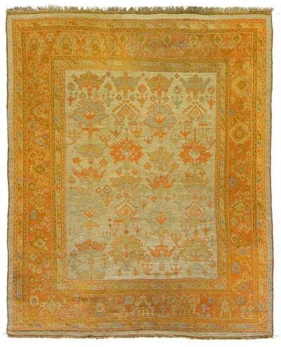 "Ghiordes Carpet 8' 7"" x 7' 0"""