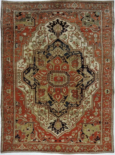 "Heriz Carpet 13' 1"" x 9' 10"""