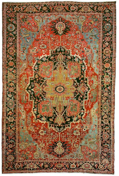"Heriz Carpet 18' 9"" x 12' 4"""