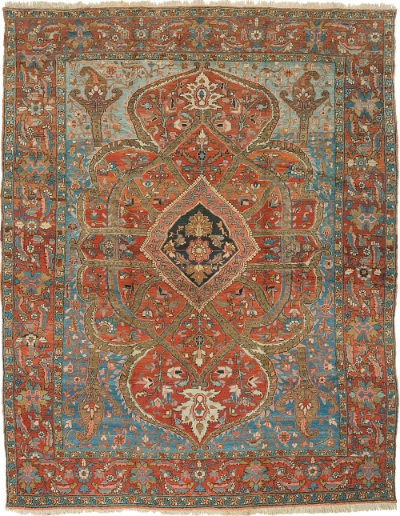 "Heriz Carpet 12' 6"" x 10' 0"""
