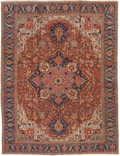 "Heriz Carpet 14' 10"" x 11' 5"""
