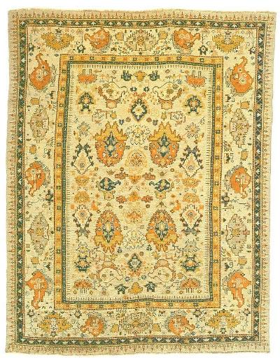 """Oushak Carpet 11' 10"""" x 9' 2"""""""