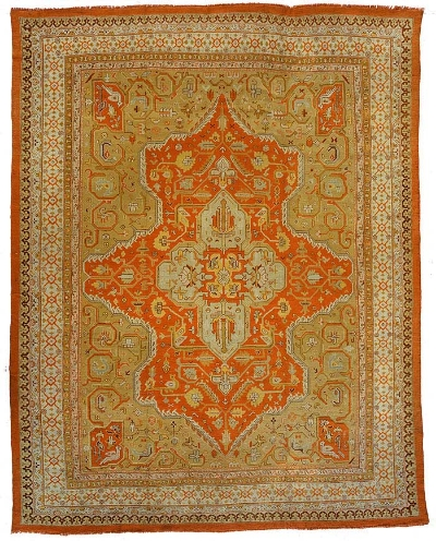 """Oushak Carpet 15' 2"""" x 11' 11"""""""