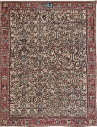 "Tabriz Carpet 11' 9"" x 8' 11"""