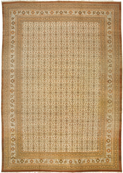 "Tabriz Carpet 18' 5"" x 12' 9"""
