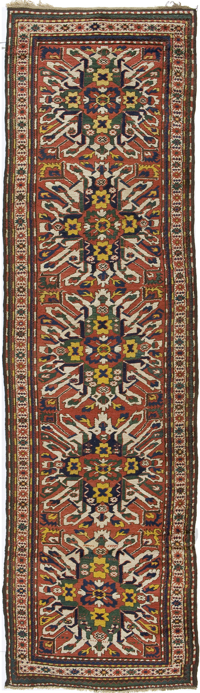"Eagle Kazak Runner 13' 3"" x 3' 8"""
