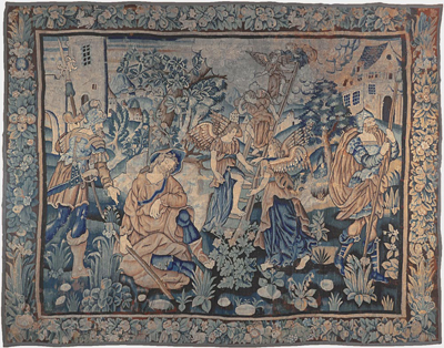 "16th C Flemish Tapestry 9' 9"" x 12' 3"""