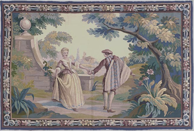 "Aubusson Tapestry 3' 10"" x 5' 10"""