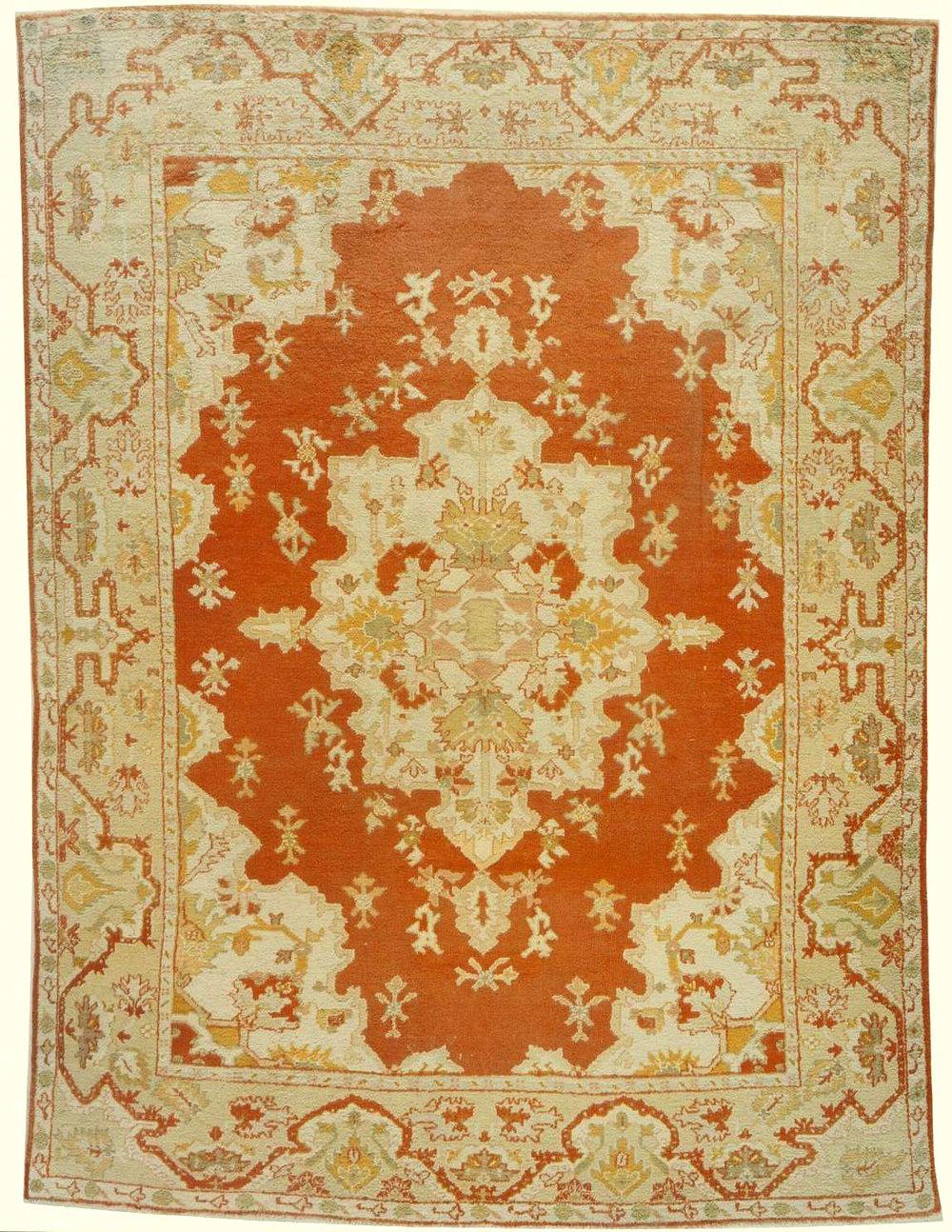 Oushak Carpet_17364