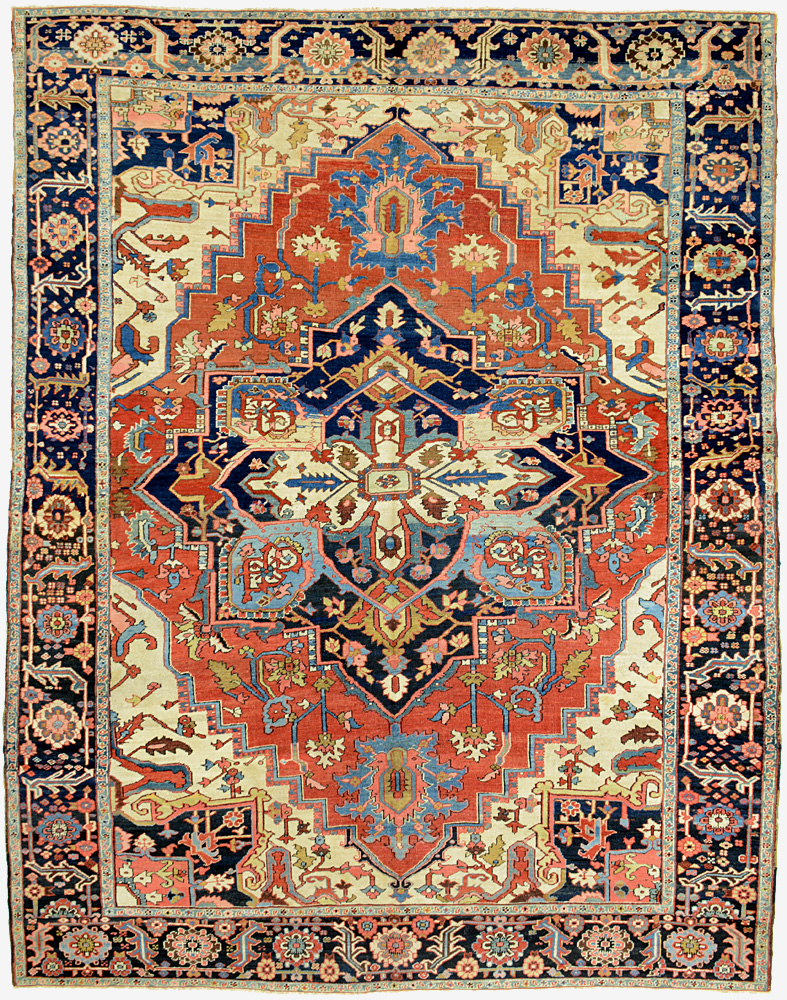 "Heriz Carpet 11' 5"" x 9' 0"""