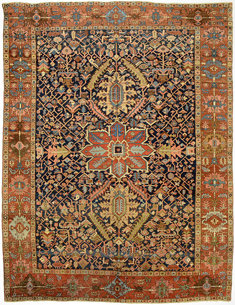 "Heriz Carpet 12' 4"" x 9' 4"""