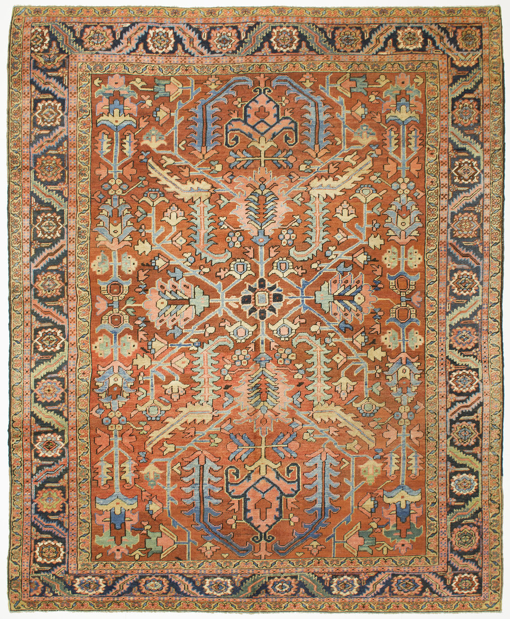 "Heriz Carpet 10' 10"" x 9' 0"""