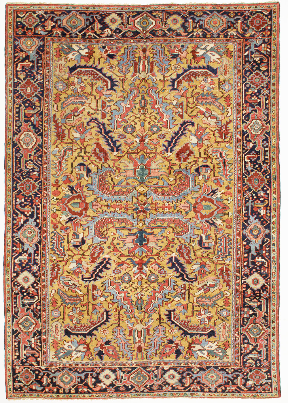 "Heriz Carpet 9' 10"" x 7' 0"""