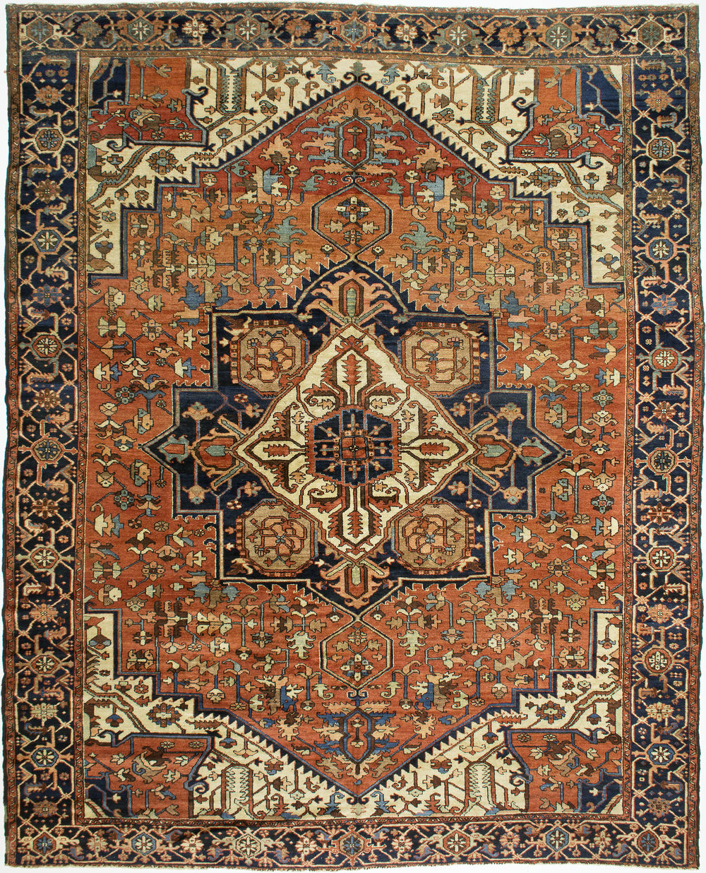 "Heriz Carpet 12' 9"" x 10' 4"""