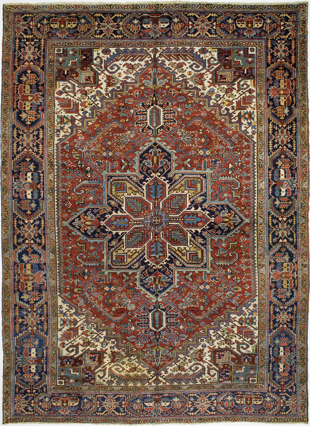 "Heriz Carpet 13' 0"" x 9' 7"""